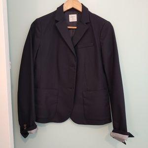 NWOT GAP academy blazer, 6 Navy, button down